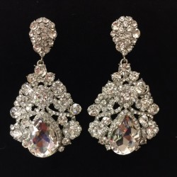 Clear Crystal Diamante Earring M23