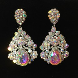 Aurora Borealis Crystal Diamante Earring M22