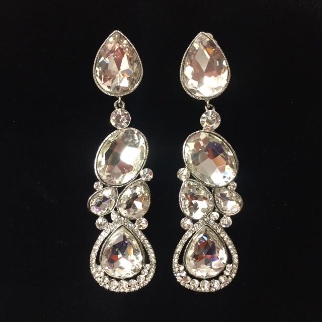Clear Crystal Diamante Earring M21