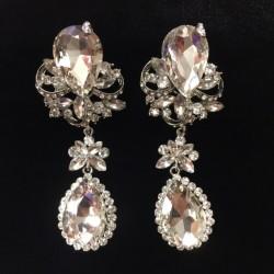 Clear Crystal Diamante Earring M19