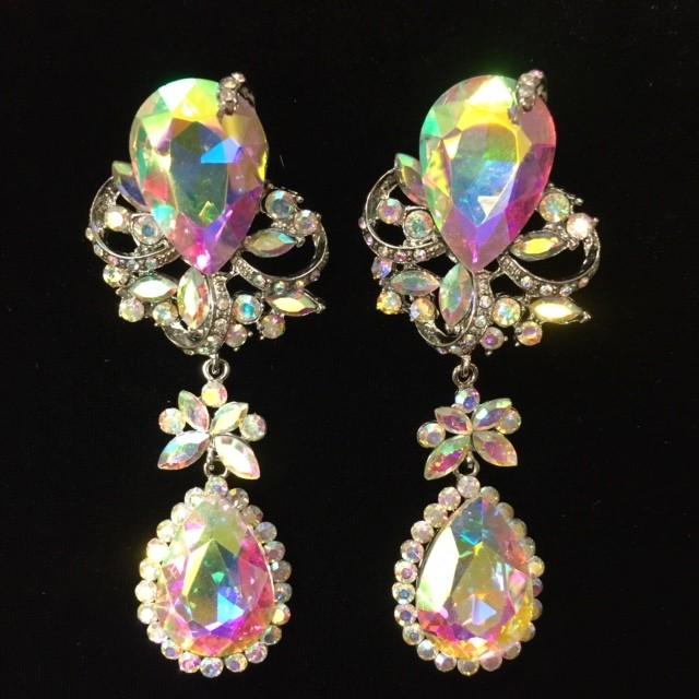 Aurora Borealis Crystal Diamante Earring M18