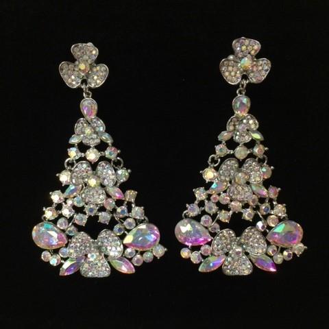Aurora Borealis Crystal Diamante Earring M8