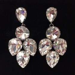 Clear Crystal Diamante Showgirl Earring