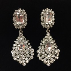 Clear Crystal Diamante Earring Clear S33