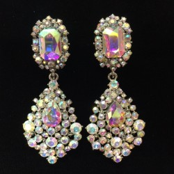 Aurora Borealis Crystal Diamante Earring S34
