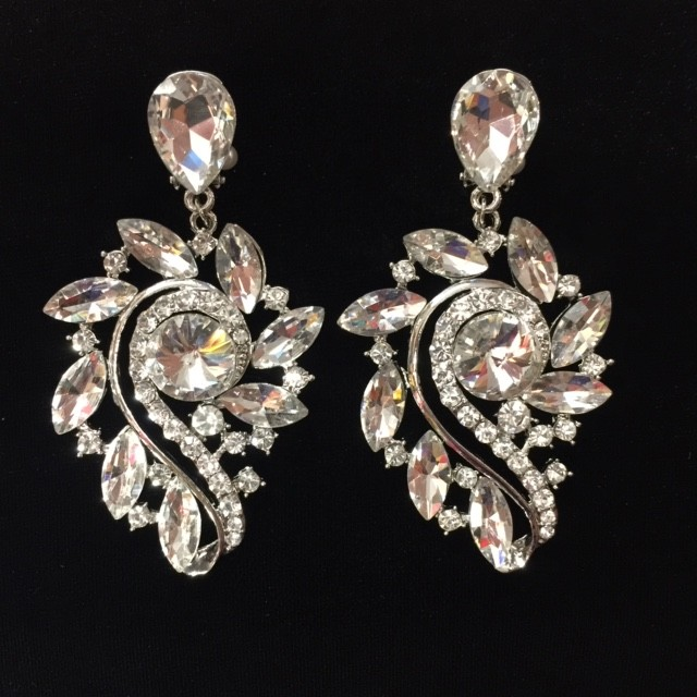Clear Crystal Diamante Earring S43