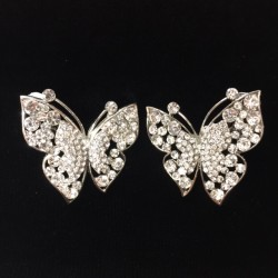 Clear Crystal Butterfly Earring S44