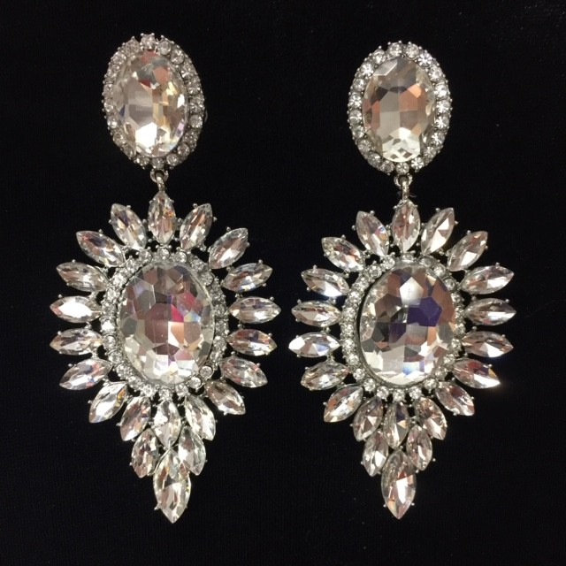 Clear Crystal Diamante Earring M30