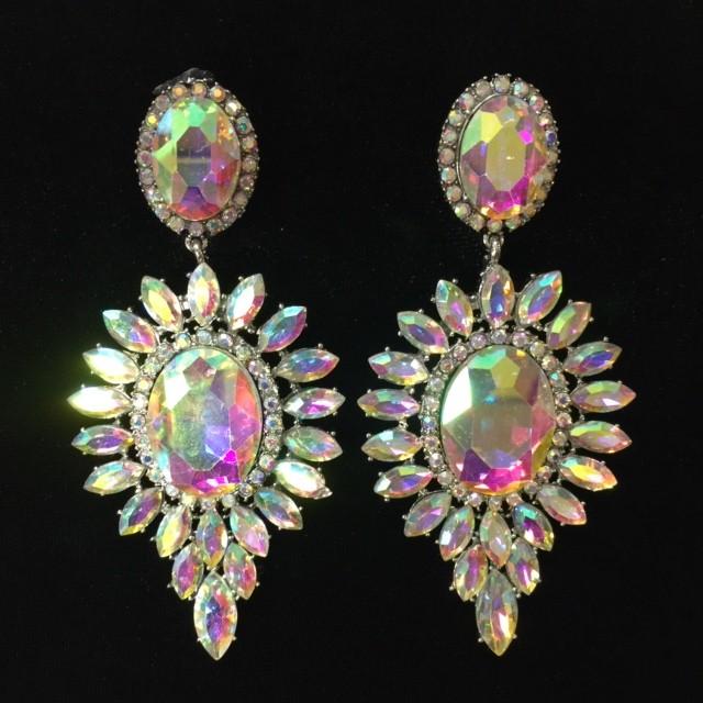 Aurora Borealis Crystal Diamante Earring M31