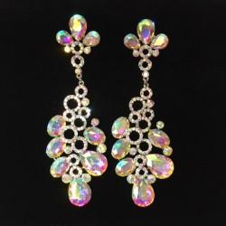 Aurora Borealis Crystal Diamante Earring M34