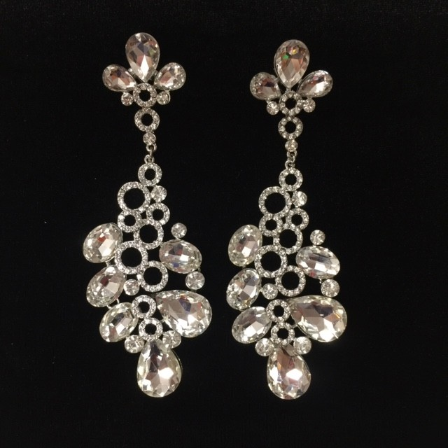 Clear Crystal Diamante Earring M35