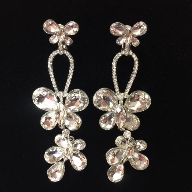 Clear Crystal Diamante Earring M36