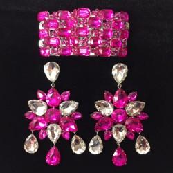 Crystal Dangle Earring and...