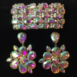 Crystal Round Earring and...