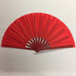 Plastic Handle Clacking Fan Red