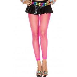 Music Legs Fishnet Spandex Leggings Hot Pink