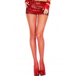 Music Legs Fishnet Small Mesh Pantyhose Red