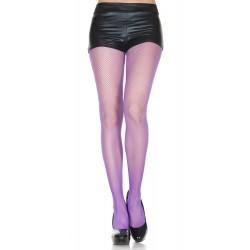 Music Legs Fishnet Small Mesh Pantyhose Purple