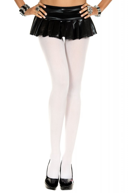 Music Legs Opaque Tights White