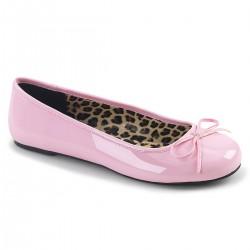 Pink Label Anna 01 Ballet Flat Shoe Pink Patent