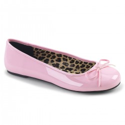 Pleaser Pink Label Anna 01 Flat Shoe Pink Patent