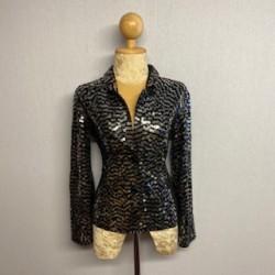 Children's Sequin Button Jacket Black