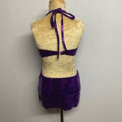 Low Back Kiki Sequin Dress Purple