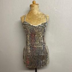 Kiki Low Back Sequin Dress Silver