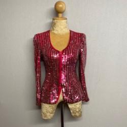 Sequin Zip Jacket Hot Pink