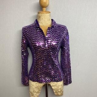 Children's Sequin Button Jacket Purple