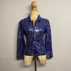 Children's Sequin Button Jacket Royal Blue