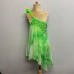 Tangled Waters Chiffon Dress Lime Green