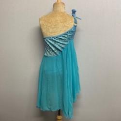 Tangled Waters Chiffon Dress Aqua Blue