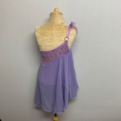Tangled Waters Chiffon Dress Light Purple