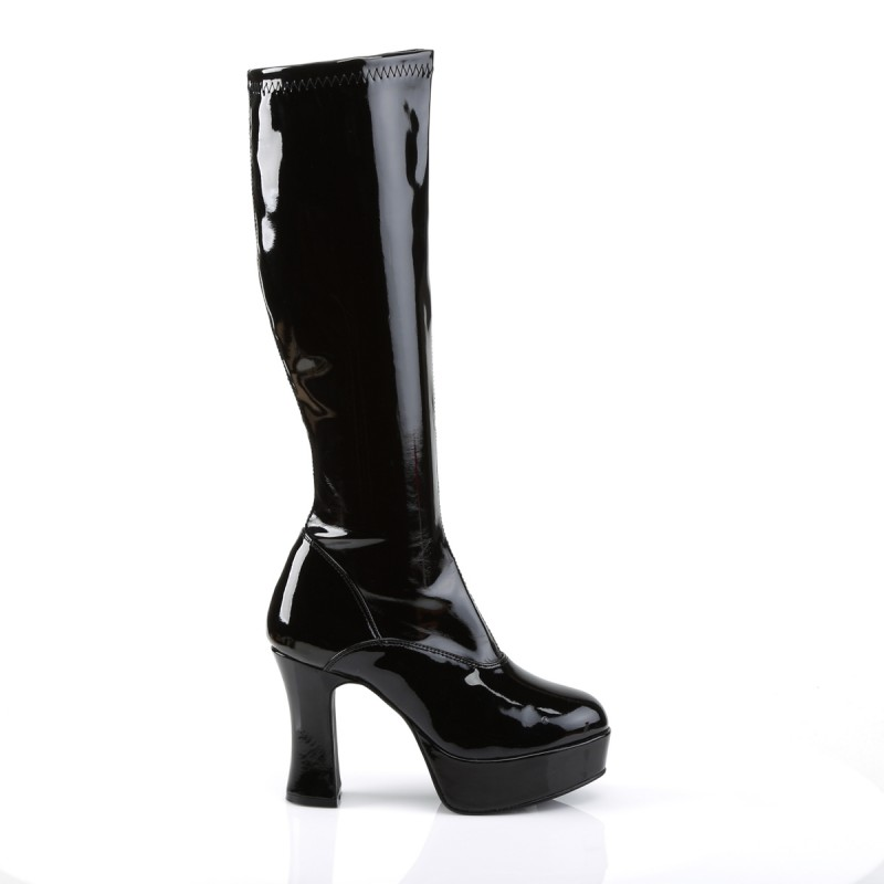 Pleaser Exotica 2000 Gogo Boot Black Patent