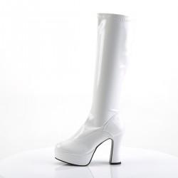 Pleaser Exotica 2000 Gogo Boot White Patent