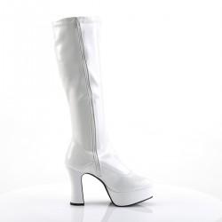 Exotica 2000 Gogo Boot White Patent Funtasma
