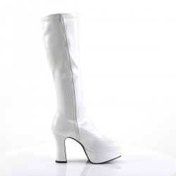 Pleaser Exotica 2000 Gogo Boot White Patent