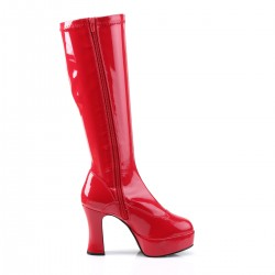 Pleaser Exotica 2000 Gogo Boot Red Patent