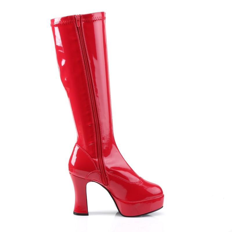 Exotica 2000 Gogo Boot Red Patent Funtasma