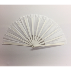 Plastic Handle Clacking Fan White
