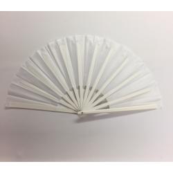 White Plastic Handle Clacking Fan