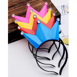 Light Up Party Tiara Crowns Assorted Colours