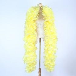 Organza Boa 250cm Yellow with Sequin Trim