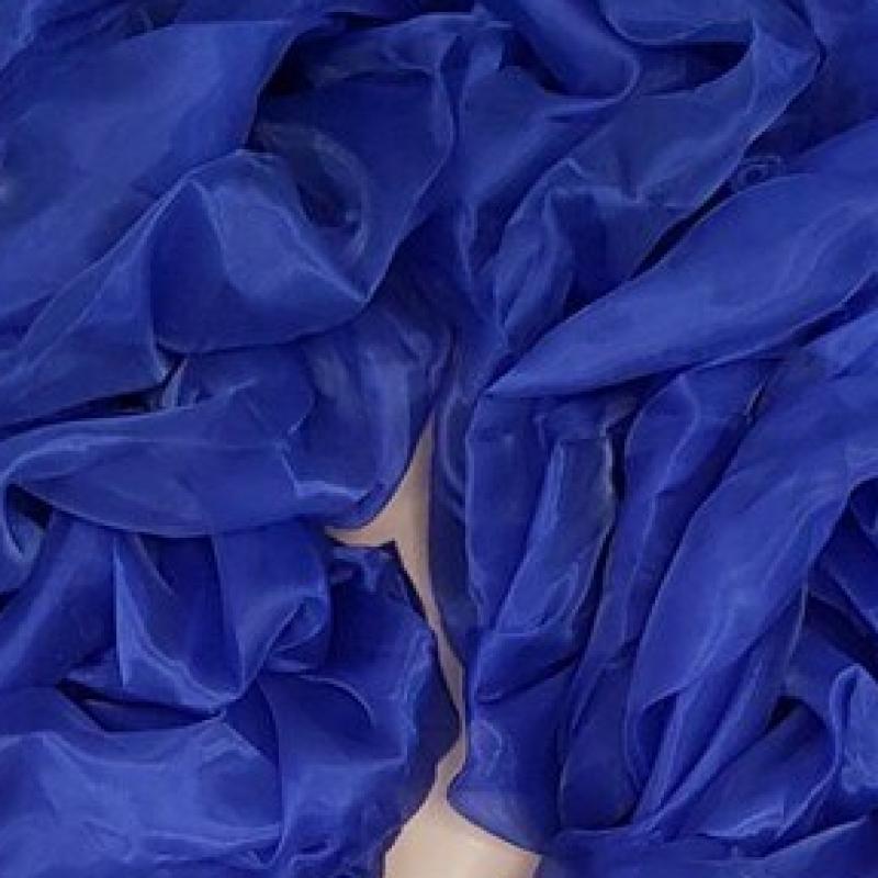 Royal Blue Fluffy Crystal Organza Boa 250cm