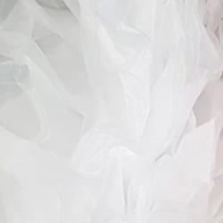 White Fluffy Crystal Organza Boa 250cm