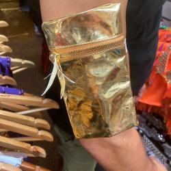 Phone Purse Metallic Gold