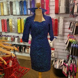 Bubble Sequin Dress Midnight Blue Size 34