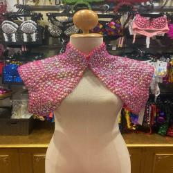 Pop Sequin Shoulder Shrug Hot Pink