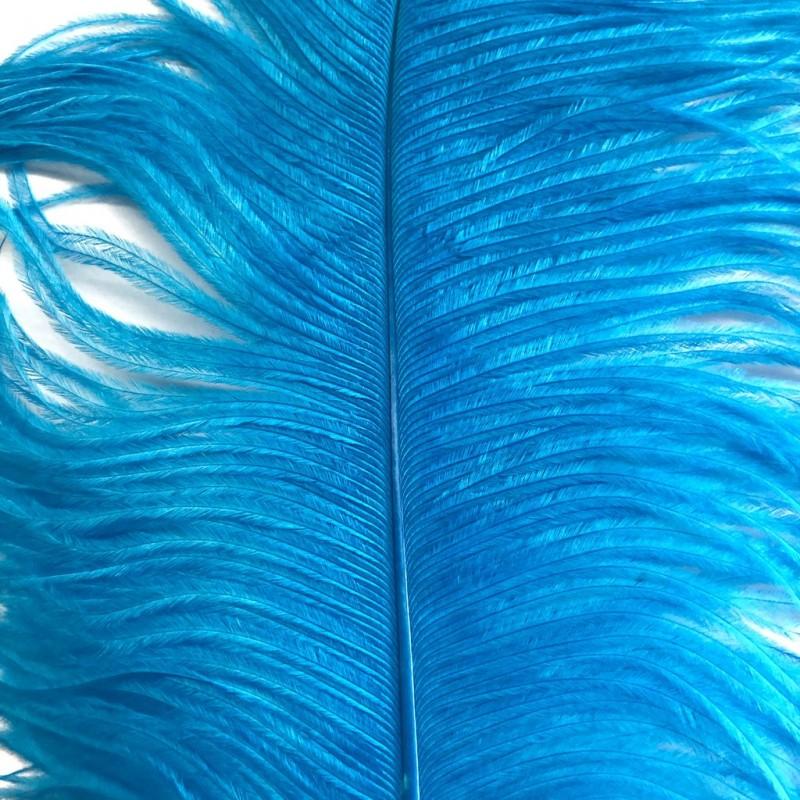 Ostrich Feather Plume 55-60cm Aqua